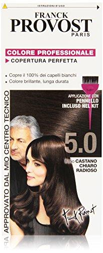 Franck Provost Colorazione Permanente Capelli, Tinta Copertura Ottima, Colore Professionale, 5.0 Castano Chiaro Radioso