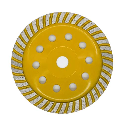 APLUS Mola a Tazza Diamantata Turbo 180 mm x 22,2 mm, Disco Diamantato per Cemento, Marmo, Granito, Calcestruzzo, Mattoni, Gesso, Pietra pomice, Amianto