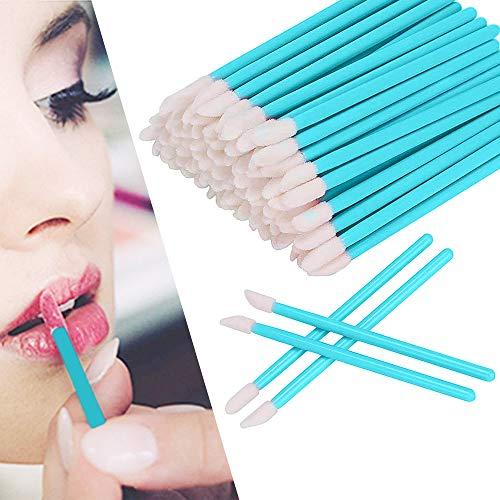 100 Pezzi monouso labbro pennelli,Pennello labbra lip Gloss pennello monouso di pennelli per labbr Bastoncino Applicator Make Up Tool kit