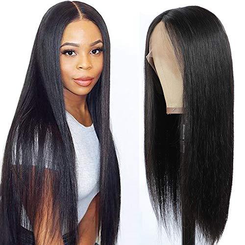 Parrucche capelli veri parrucca donna capelli veri lace front wigs human hair parrucca nera lunga 45cm