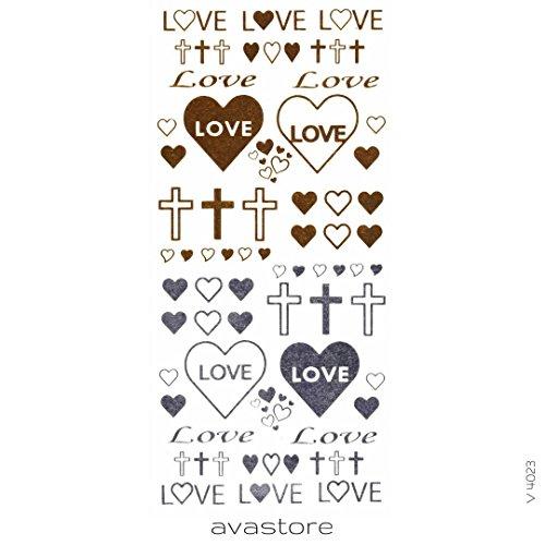 Tatuaggio Temporaneo gioielli Love tatuaggio Effimero gioielli Love–avastore