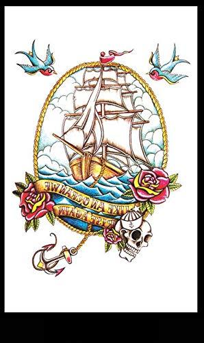 Braccio per tatuaggio Adesivi per tatuaggio impermeabili Modello di barca a vela Uomini e donne Moda Adesivi per tatuaggio a metà braccio per personalità europea e americana 8Pz / Set 12X19Cm / Pc