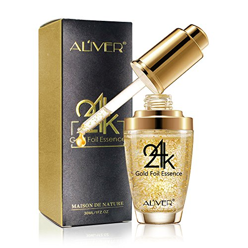 24K Gold Essence Collagen Skin Face Moisturizing Hyaluronic Acid Anti-Aging Mask Moisturizing Firming for Women Skin Care …
