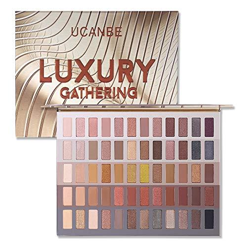 UCANBE 60 colori Honey Shimmer Eyeshadow Palette Luxury Gathering Smoky Long-Lasting Pigment Matte Eye Shadow Pro Nudes Warm Neutral Dramatic Matte Glitter Eye Shadows