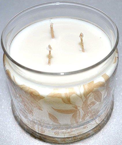 PartyLite, candela profumata a 3stoppini, in contenitore in vetro, con fragranza marshmallow vaniglia