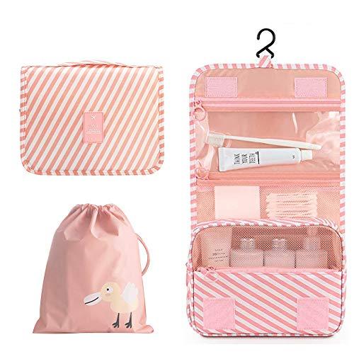 Orgawise beauty case borsa da viaggio borsa da toilette borsa cosmetica per donne e ragazze con impermeabile (inviare una borsa con coulisse gratis) (Rosa)