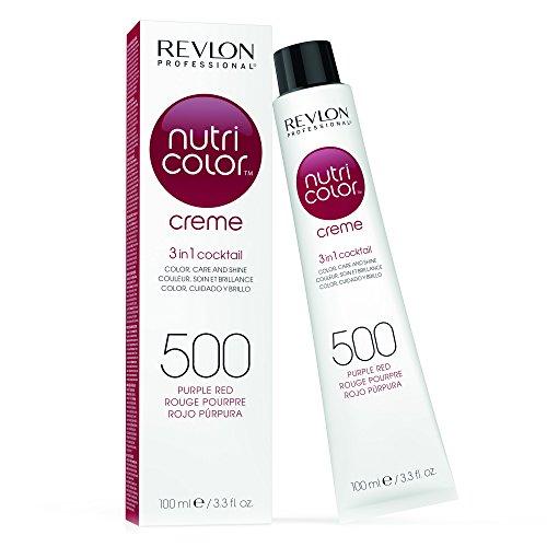 Revlon Cura Capillare, Nutri Color Cream, 500 ml, 500-Purple Red 100 Ml
