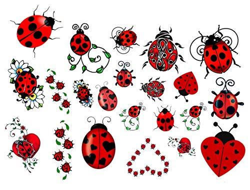 Tatuaggi temporanei di uccelli farfalla ape Bee Butterfly Birds Temporary Tattoos (Coccinella tatuaggi c2 Ladybird Tattoos)