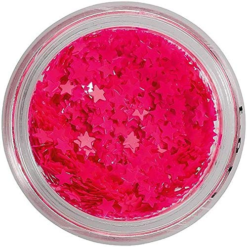 Peggy Sage - Paillette per unghie neon pink stars