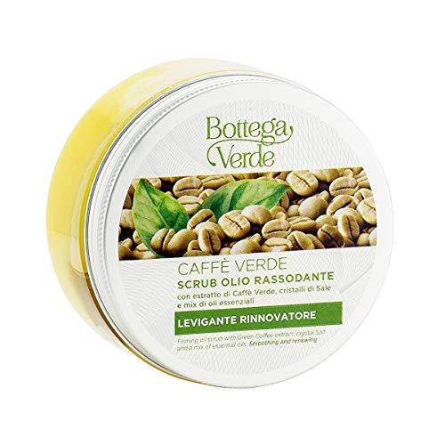 Bottega Verde, Caffe Verde - Scrub olio rassodante - con estratto di Caffe Verde, cristalli di Sale e mix di oli essenziali (200 ml)