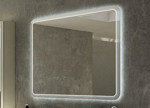 Specchiera specchio filo lucido,retroilluminato a led,sensore touch,cm.90x100