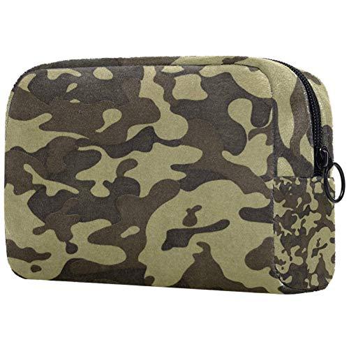 Borse da Toilette,Motivo mimetico verde militare ,make up borse da viaggio,Beauty Case da Viaggio,Cosmetici Trucco Pochette da Toilette Organizer