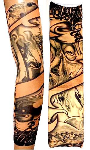 Manicotto Tattoo Manica Tatuaggio Finto Occhio Carte Joker Tribale W05 Idea Regalo Natale Compleanno Festa