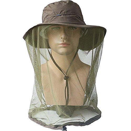 ZffXH - Zanzariera per apicoltore, con rete e protezione solare per escursionismo Sarifi (braccio verde)
