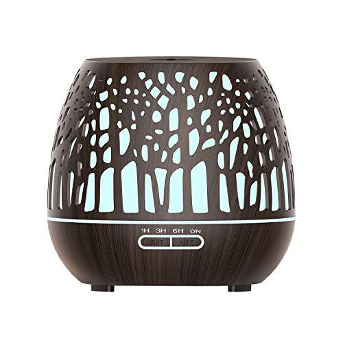 Moligh doll Smart WiFi Diffusore di Olio Umidificatore Controllo App Nebulizzatore con Amazon Alexa Home Spina Europea nel Legno Scuro