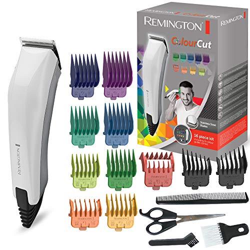 Remington HC5035 Colour Cut Tagliacapelli 11 pettinini, forbici, pettine e spazzola per il collo, con filo