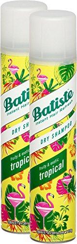 Batiste, shampoo a secco 'Dry Shampoo' con fragranza al cocco e tropicale esotico, per rinfrescare i capelli, per tutti i tipi di capelli, confezione da 2pezzi da 200ml
