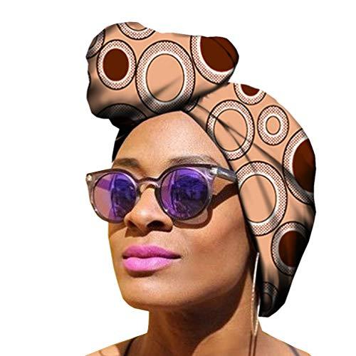 Mengyu Donna Involucro Tradizionale Cappellino Turbante Morbido Elastiche Fascia per Capelli Wrap Sciarpa Turbante (Style#9, 50 * 150cm)