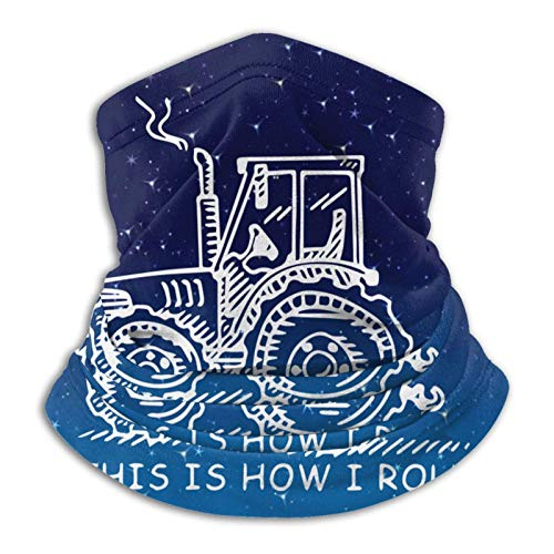 Lawenp Questo è il modo in cui arrotolo la sciarpa per il viso divertente del contadino o del trattore agricolo per il freddo per uomini e donne