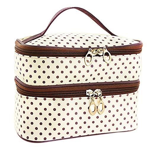 T-ara Il Nuovo Borsa da Viaggio Beauty Beauty Borsa Decorativa Makeup Case Organizzatore Zipper Holder Handbag Essenziale per l'escursionismo (Color : Beige, Size : A)