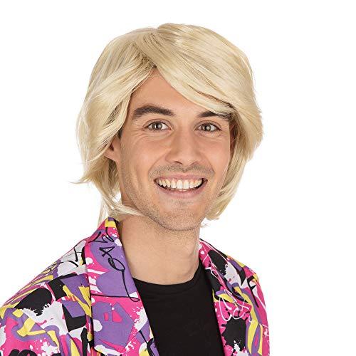 Bristol Novelty- Parrucca da Uomo bionda, Multicolore, Taglia Unica, BW466
