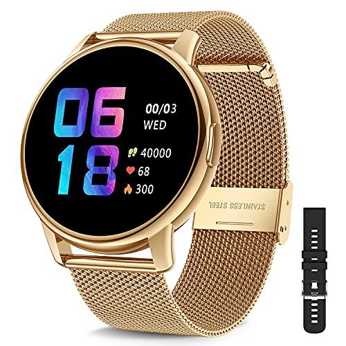 Canmixs Smartwatch Donna Uomo,Orologio Fitness tracker IP68 Impermeabile Bluetooth Digitale Orologio Smart Watch con Cardiofrequenzimetro Da Polso Saturimetro Pressione Contapassi Calorie Android ios