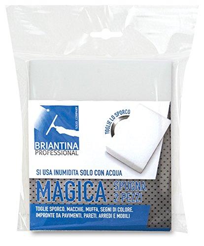 La Briantina 2 spugne magiche, Bianco, 13x13 cm