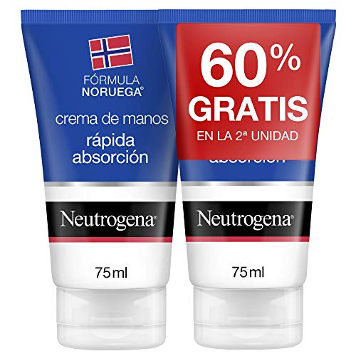 Neutrogena–Crema di mani a rapido assorbimento–75ml Duplo (2ª al 60%)