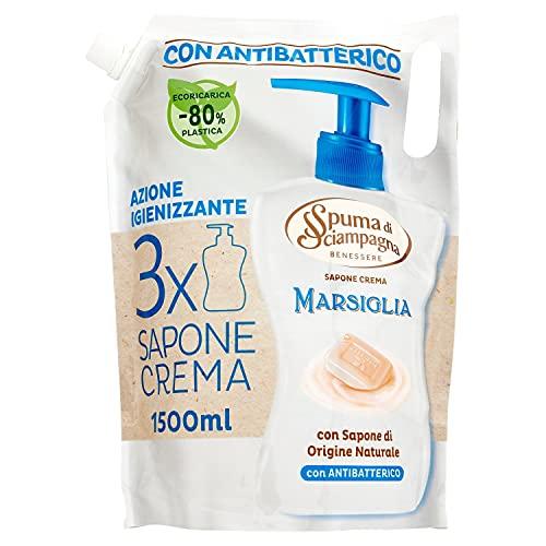 Spuma di Sciampagna Ecoricarica Sapone Liquido Marsiglia, 1500ml