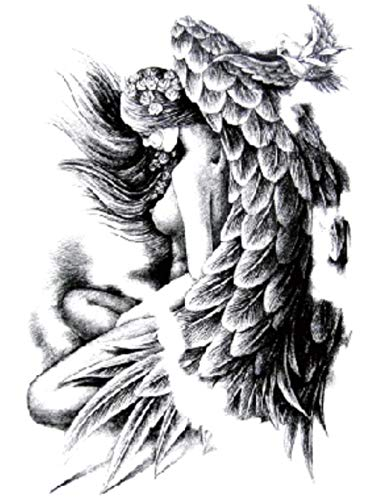 Angelo Bellissime Ali Adesivi Per Trasferimento Di Tatuaggi Temporanei Body Man Donna Impermeabile Rimovibile Sicuro Per Tutte Le Pelli Festival 21X15Cm 5 Pcs