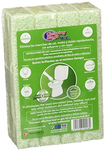 Cleaning Block 10008Ei Pietra di Pulizia per WC, Verde, 4 Pezzi