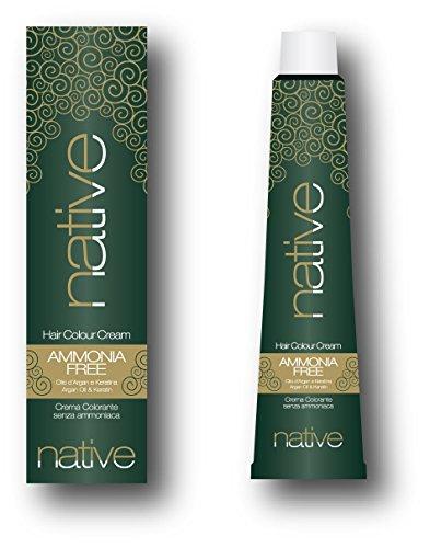 Native - crema colorante per capelli senza ammoniaca con olio di argan e keratina,7.44 biondo rame intenso (100ml)