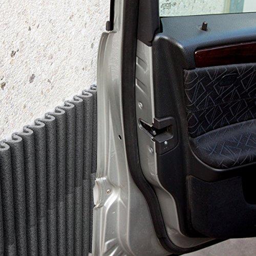 Pannelli Wall Bumper di leggerodesign  Paracolpi Garage per proteggere le portiere dell'auto   Set da 4 Pannelli Adesivi Ammortizzanti, Idrorepellenti   44cm x 59cm l'uno   Colore: Nero
