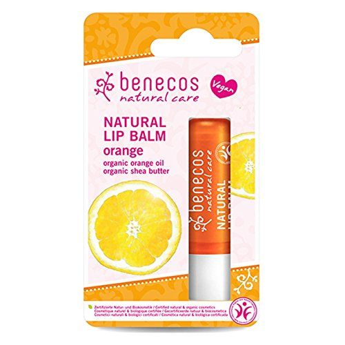 2 x Benecos Natural Lip Balm Orange 4,8g