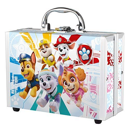 Paw Patrol, set divertente – articoli da bagno per bambini in piccola valigetta PawPatrol – Set regalo – Spugna da bagno magica con coriandoli da bagno e doccia gel