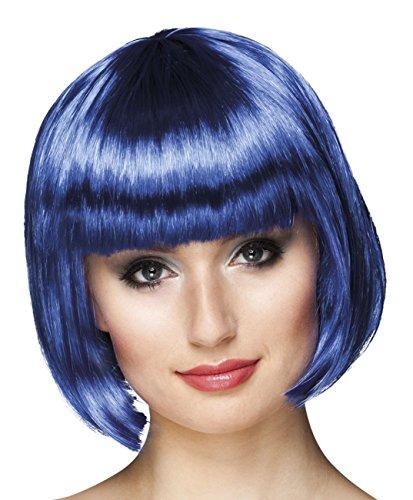 Boland 85896 - Parrucca Cabaret Caschetto, Blu