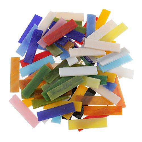 dailymall 70 Pezzi Rettangolo in Vetro Vetroso Tessere di Mosaico Pezzi F Arte Artigianato Fai Da Te Materiale