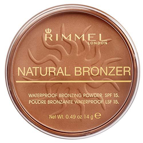 Rimmel London Natural Bronzer -Terra Abbronzante Waterproof a Lunga Durata SPF 15, 025 Sun Glow, 14 g