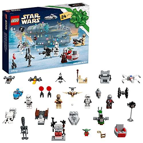 LEGO Star Wars Calendario dell'Avvento 2021, il Regalo Natalizio Mandaloriano per Bambini dai 6 Anni in su con Mini Baby Yoda, 75307