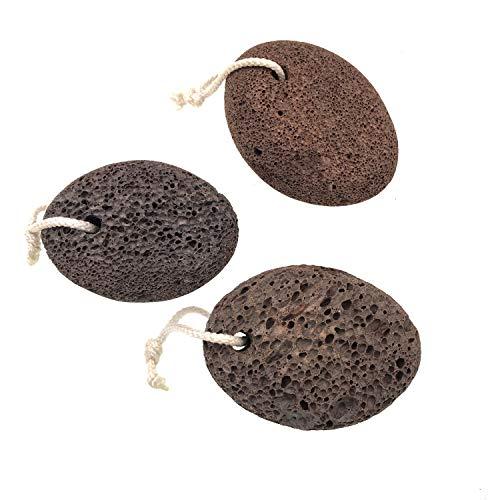 JZK 3 x Pietra pomice naturale per piedi rimozione calli duroni esfoliant, pietra vulcanica pietra lavica strumento pedicure pulizia piedi