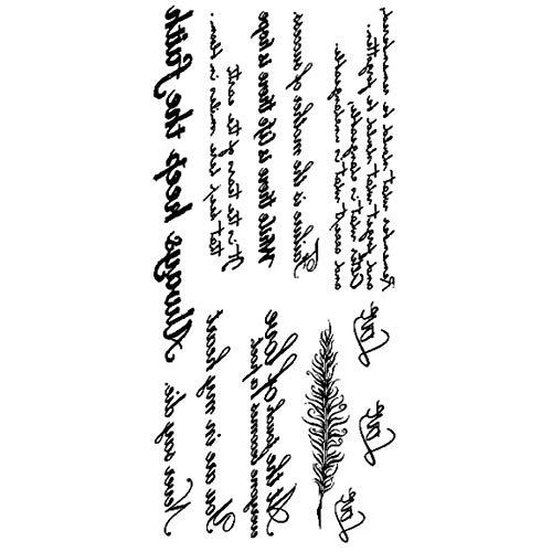 Autoadesivo del tatuaggio della lettera inglese impermeabile Tatuaggio impermeabile 3D di personalità