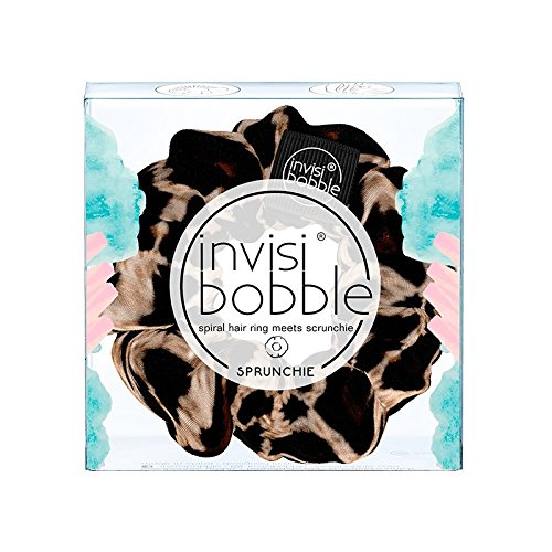 Invisibobble SPRUNCHIE Big Hair Scrunchie per le donne, capelli elastici, accessori per capelli da donna, Purrfection L & eacute; opard