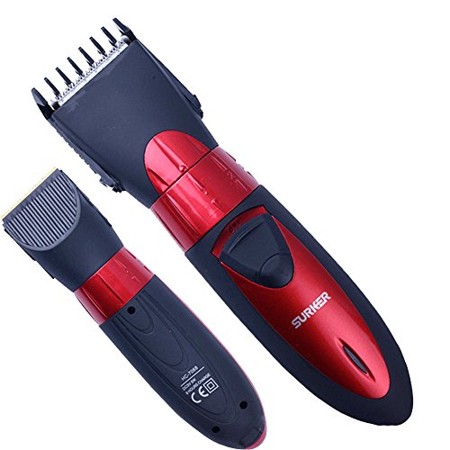 Rasoio taglia capelli tagliacapelli regola barba SURKER regolabile impermeabile