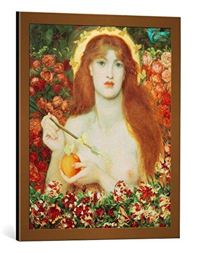 kunst für alle Quadro con Cornice: Dante Charles Gabriel Rossetti Venus Verticordia - Stampa Artistica Decorativa, Cornice di Alta qualità, 55x65 cm, Rame Spazzolato
