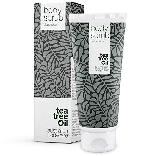 Australian Bodycare Body Scrub 200 ml | Esfoliante con Tea Tree Oil australiano | Per tutti i tipi di pelle | Per duroni | Per brufoli su schiena e corpo | Adatto a uomini e donne