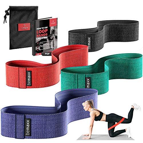 Loop Fasce Elastiche Fitness Set/Livelli Resistenza + eBook di Esercizio e Borsa | Banda Elastica Glutei Gambe Addominale Braccio, Trazioni Boxe Fisioterapia Pull Up Crossfit Piltaes Sportiva Kit