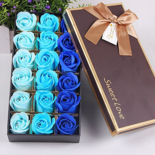 18 Pezzi Profumato Fiori del Sapone Rose,Fiore del Sapone Creativo Regalo per la Festa di Compleanno San Valentino