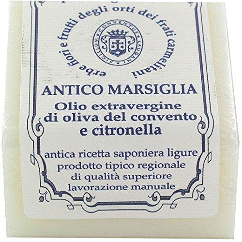 Sapone di Marsiglia dei Frati Carmelitani Scalzi, Olio e citronella - cubo da 125 g (Confezione da 5 Pezzi)