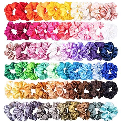 60 Pz Capelli Scrunchies Nastri Elastici per Capelli Grosgrain Nastro Boutique, Morbido per Le Donne o Le Ragazze Accessori per Capelli (Multicolore)