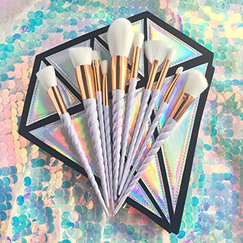 Xiton Pennelli Make Up Kit 10 pezzi Trucco spazzola professionale Brushs Ombretto fard trucco le sopracciglia Alta Qualità Make Up Set (Senza borsa a spazzole)